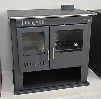 Holz-Ofen Herd System Kamin für Ofen Kochen Integral Boiler Thermo ...