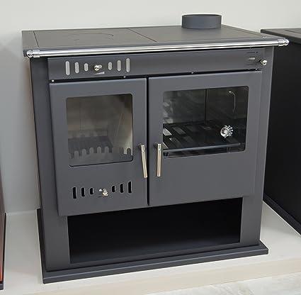 Estufa de leña estufa chimenea para sistema de calefacción central horno cocina integral caldera termo descargador
