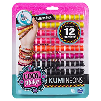 Cool Maker - KumiNeons Fashion Pack, Makes Up to 12 Bracelets with the KumiKreator, for Ages 8 and Up: Toys & Games [5Bkhe0200978]