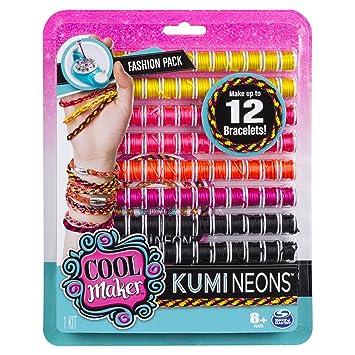 Garnspulen f/ür Kumi Kreator 6046622 Freundschaftsarmb/änder flechten /&  6045482 Cool Maker Fantasy KumiColors Fashion-Nachf/üll-Set Jewels Kumi Kreator Nachf/üllpackung Neon Cools