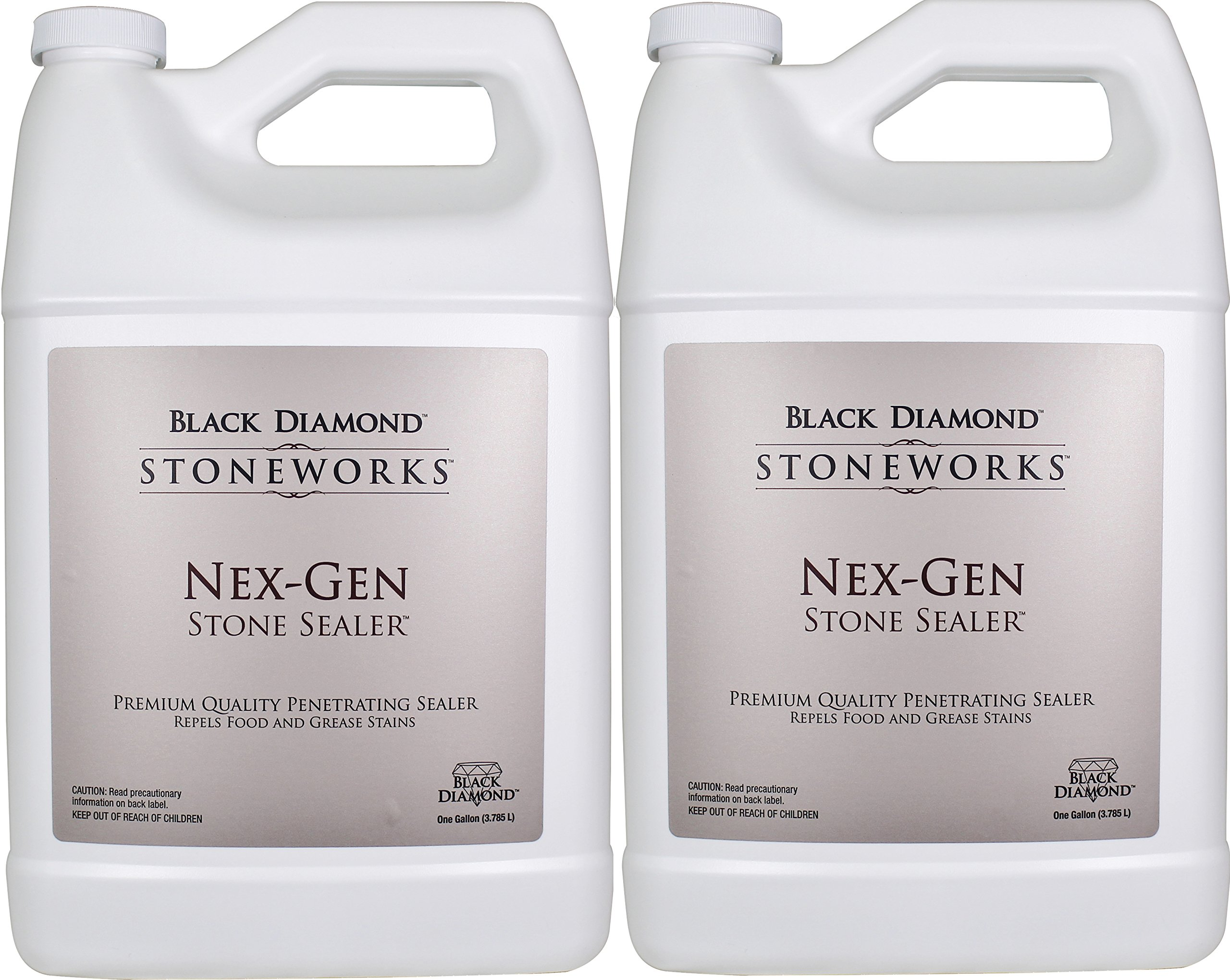 Black Diamond Nex-Gen Natural Stone Penetrating Sealer: Seals & Protects; Granite, Marble, Travertine, Limestone, Concrete, Grout, Tile, Brick, Block & Slate Floors, Patios and Fireplaces. 2-Gallons. by Black Diamond Stoneworks (Image #1)