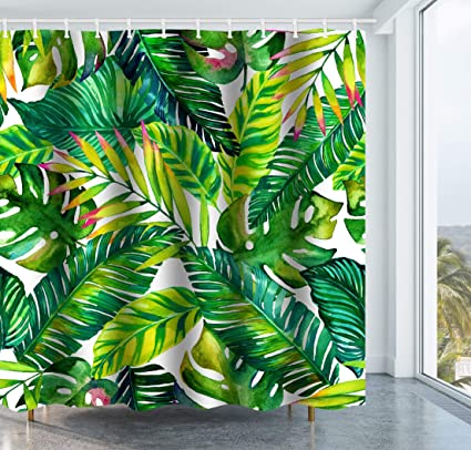 Get Orange Green Banana Brightness Leaves Decor With Stylish Floral Graphic Illustrated ArtWATERPROOF And
