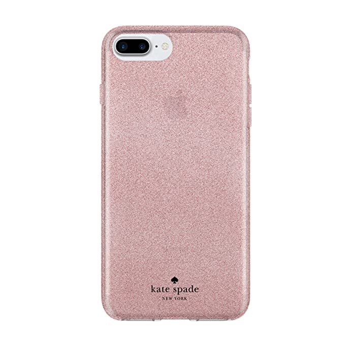 first rate 61bfe fcd5d kate spade new york Flexible Glitter Case for iPhone 8 Plus - also  compatible with iPhone 7 Plus, iPhone 6+/6s+ - Rose Gold Glitter