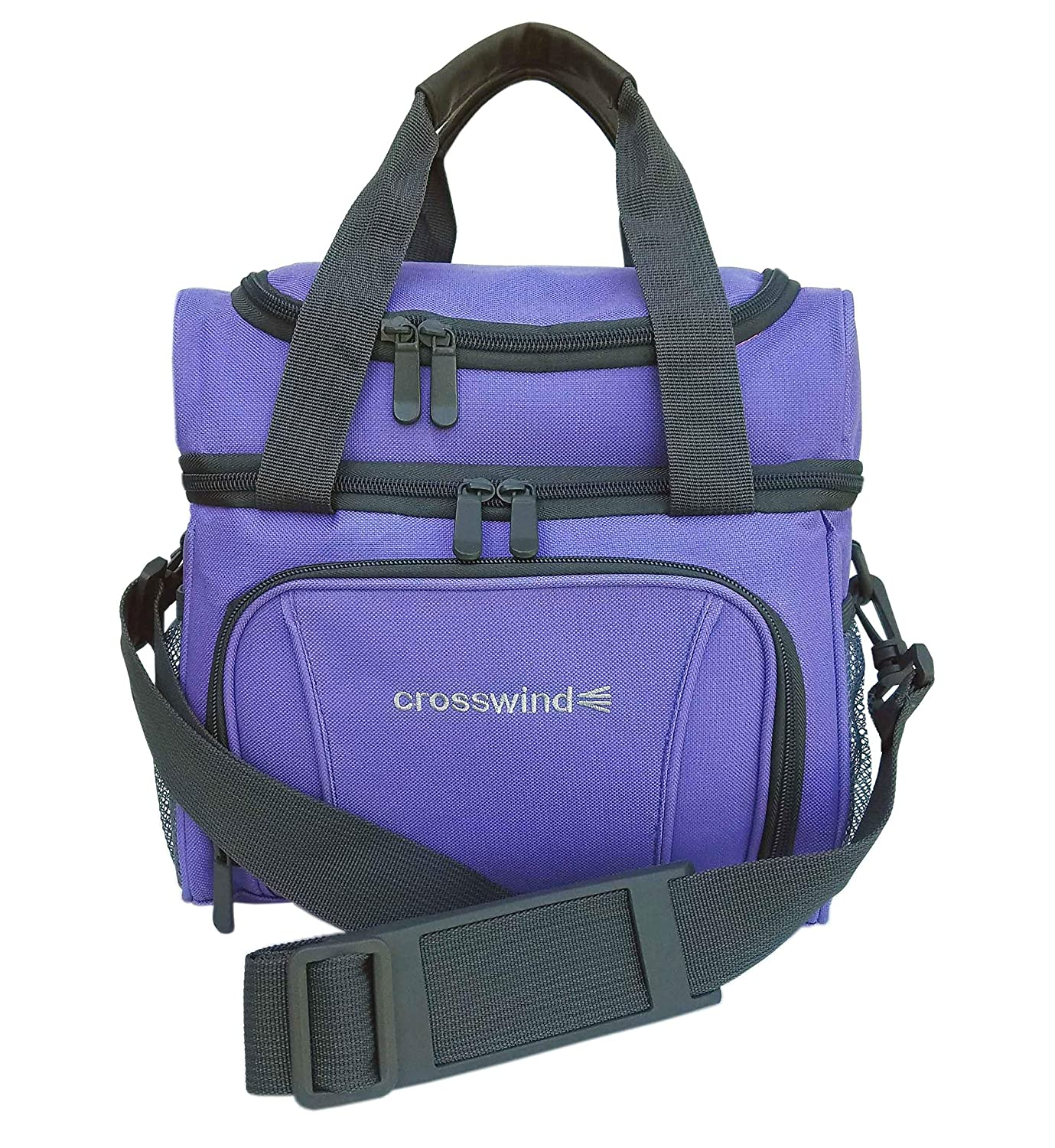 Soft Bag for Infant and Baby Bottles and Breast Milk Storage (Periwinkle) Crosswind