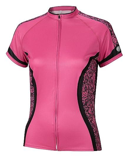 5f5eea3f28 Amazon.com   BDI Cycling Apparel Elitta Women s E-Curve Rose Jersey ...