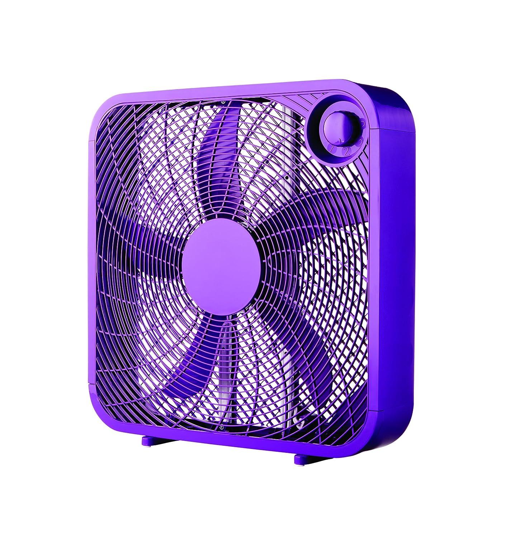 "Vibrant Purple Color 20"" Box 3-Speed Fan"