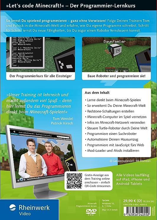 Lets Code Minecraft Amazoncouk Software - Minecraft spielen fur anfanger