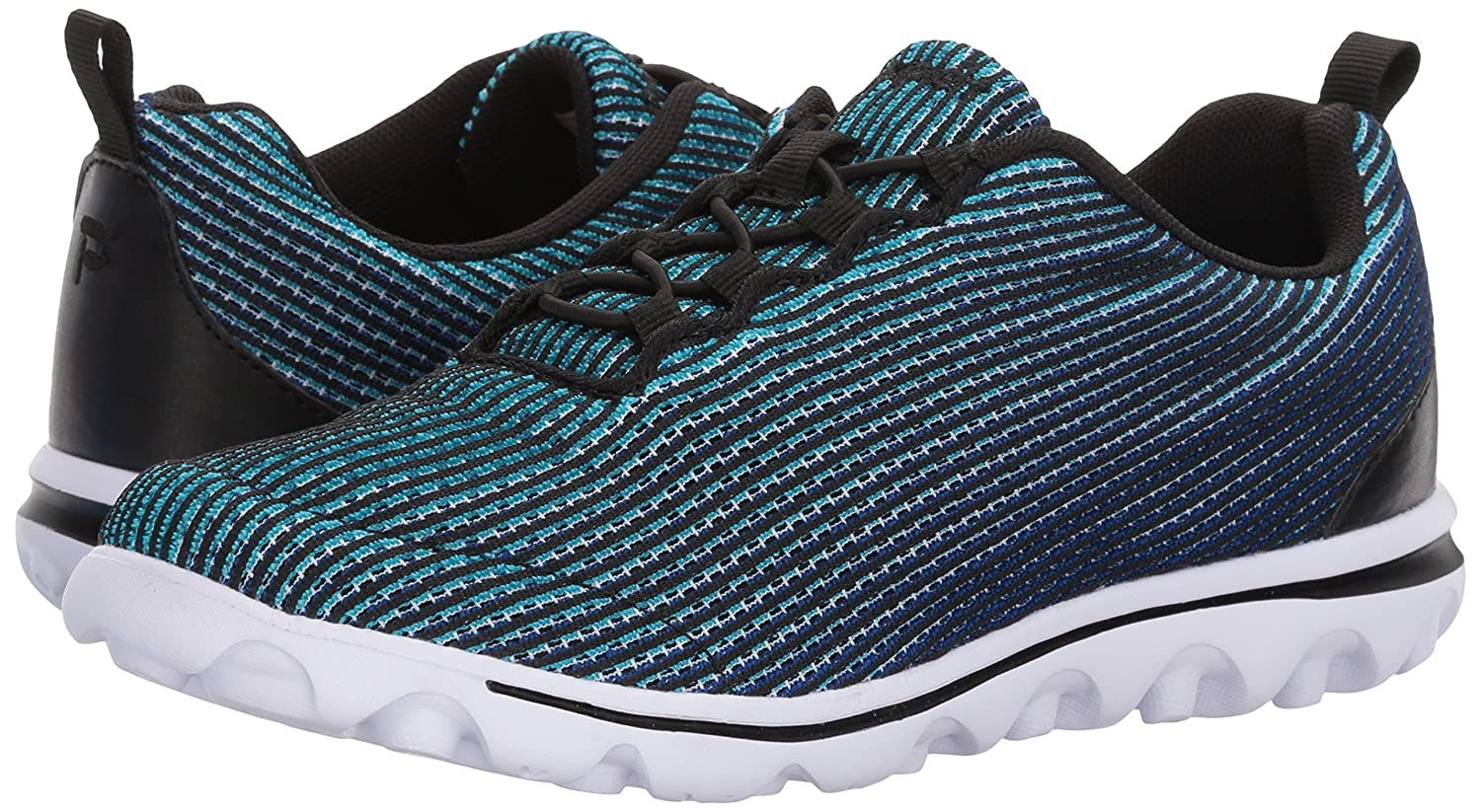 Propét Women's B071FTXX64 TravelActiv Xpress Sneaker B071FTXX64 Women's 8.5 2E US|Black/Blue 73e207