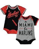 "Miami Marlins Newborn Black Orange Grey ""Descendants"" 2 Piece Creeper Set"