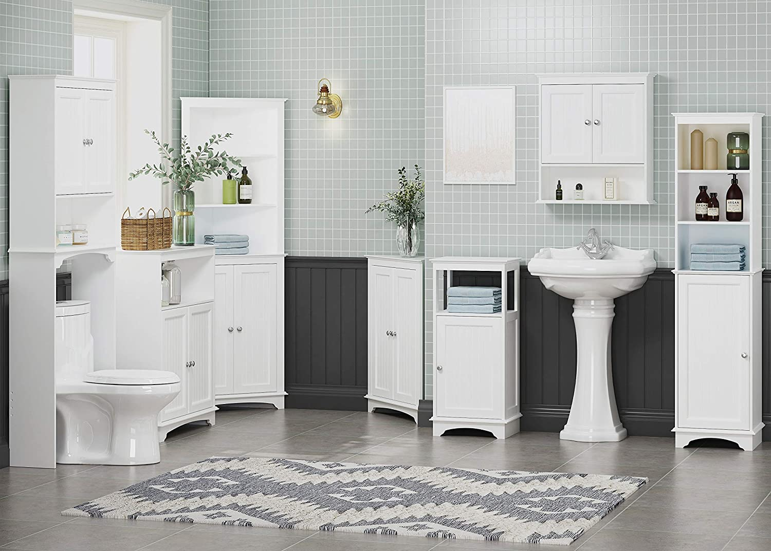 Free Standing Corner Storage Cabinets For Bathroom Kitchen Living Room Or Bedroom Spirich Home Floor Corner Cabinet With Two Doors And Shelves White Accent Furniture Zuiverlucht Storage Cabinets