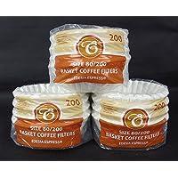 600 Stück 80/200mm Korbfilter Kaffeefilter -Beem, Cuisinart, Phillips, Gastroback usw.