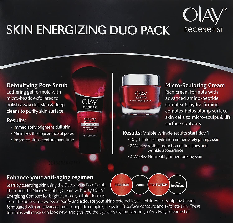 Olay regenerist Micro de Sculpting Cream and detoxifying Pore ...