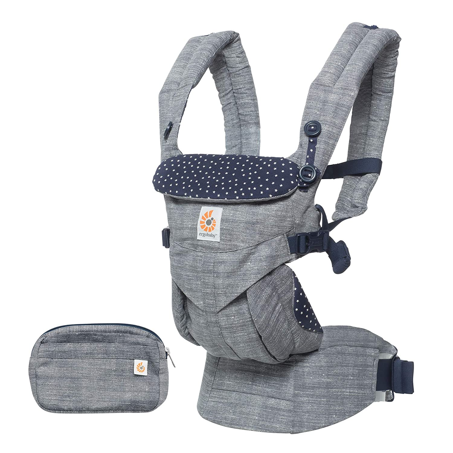 Ergobaby Omni 360 All-in-One Ergonomic Baby Carrier, All Carry Positions, Newborn to Toddler, Pearl Grey BCS360GRY