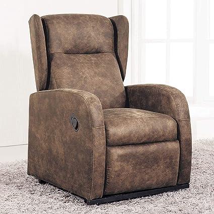 Sueños ZZZ - Sillon relax reclinable tapizado tela bali ...