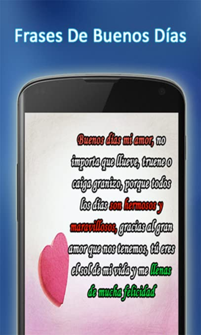Amazoncom Frases De Buenos Dias Appstore For Android