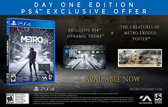 Metro Exodus for PlayStation 4: Amazon co uk: PC & Video Games