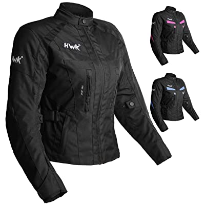 Women's Motorcycle Jacket For Women Stunt Adventure Waterproof Rain Jackets CE Armored Stella (All-Black, XL): Automotive