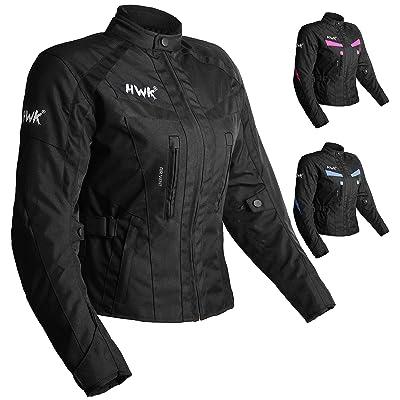 Women's Motorcycle Jacket For Women Stunt Adventure Waterproof Rain Jackets CE Armored Stella (All-Black, XL): Automotive