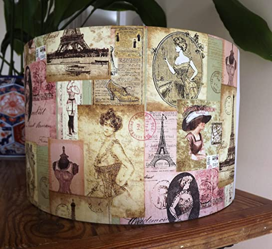 Corset Lampshade Paris Eiffel Tower Shoes French Shabby