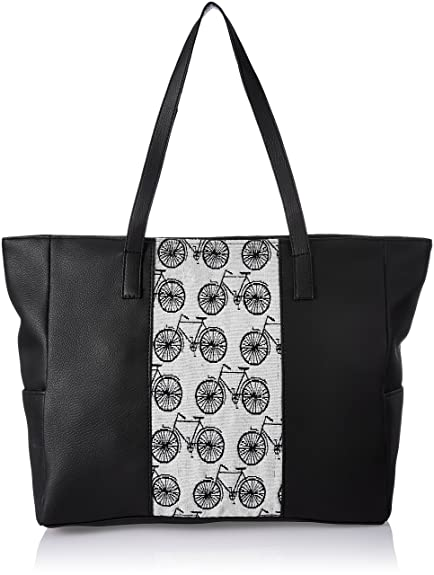 de9b3b3dd9e43 Kanvas Katha Women s Tote Bag (Black)  Amazon.in  Shoes   Handbags
