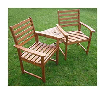 Ascot Hardwood Garden Bench Companion Set Love Seat Great Outdoor