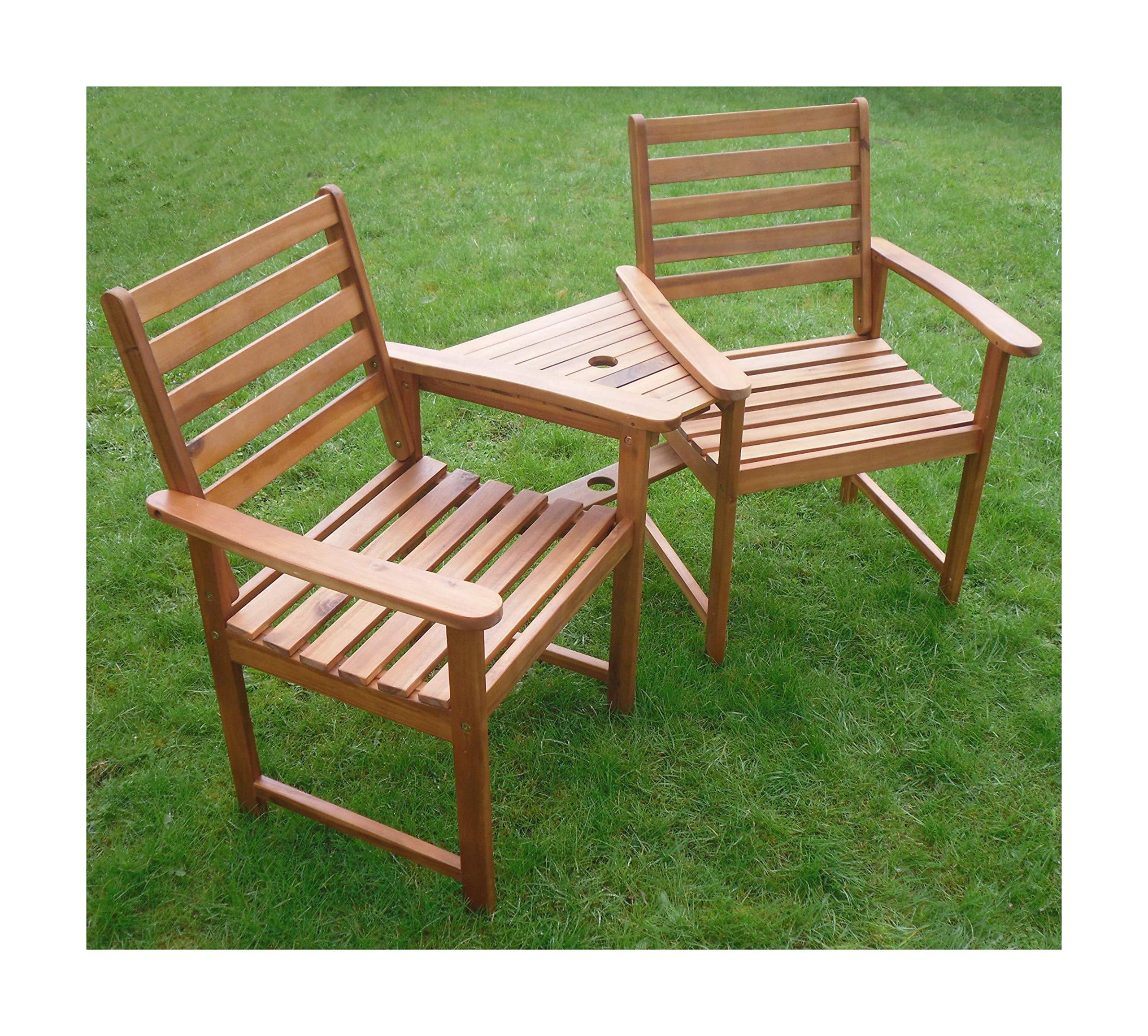 Ascot Hardwood Garden Bench Companion Set Love Seat Great Outdoor Furniture For Your Garden Or Patio Buy Online In Montenegro At Montenegro Desertcart Com Productid 49514085