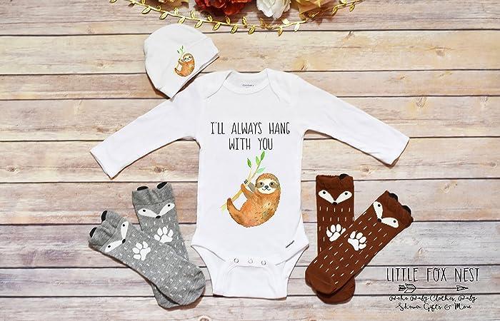 Amazon Com Sloth Onesie Baby Boy Clothes Baby Shower Gift Boho