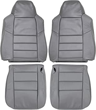 2002-2007 F250 F350 Lariat Genuine Leather Seats Cover Custom Made Front Dove Grey