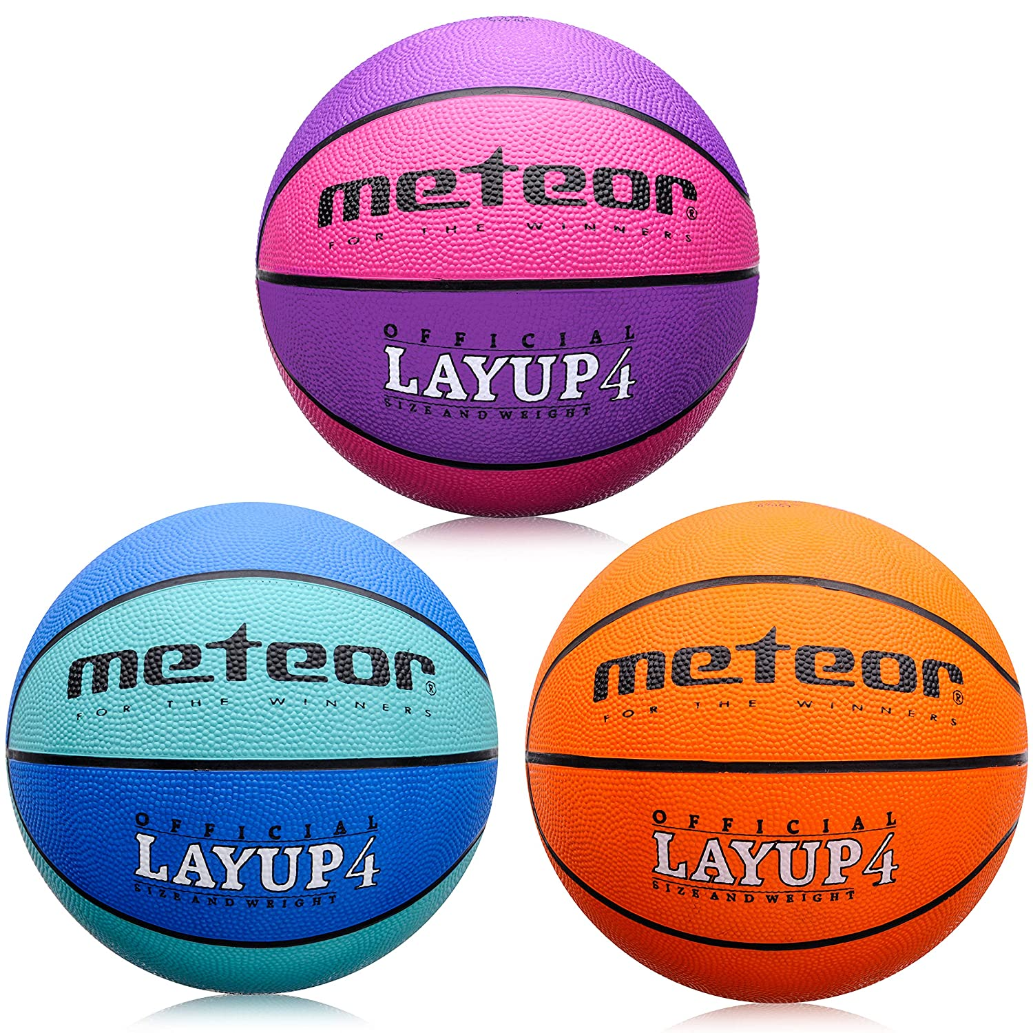 7fcbb0069ba Meteor® Layup  Children   Youth Basketball - Size 4 ideal for children - 5  to 10 Years Perfect for Training Soft Basketball Basketball With Non-Slip  ...