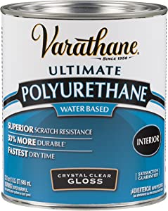 Rust-Oleum 200041H Varathane Ultimate Polyurethane Water Based, Quart, Gloss