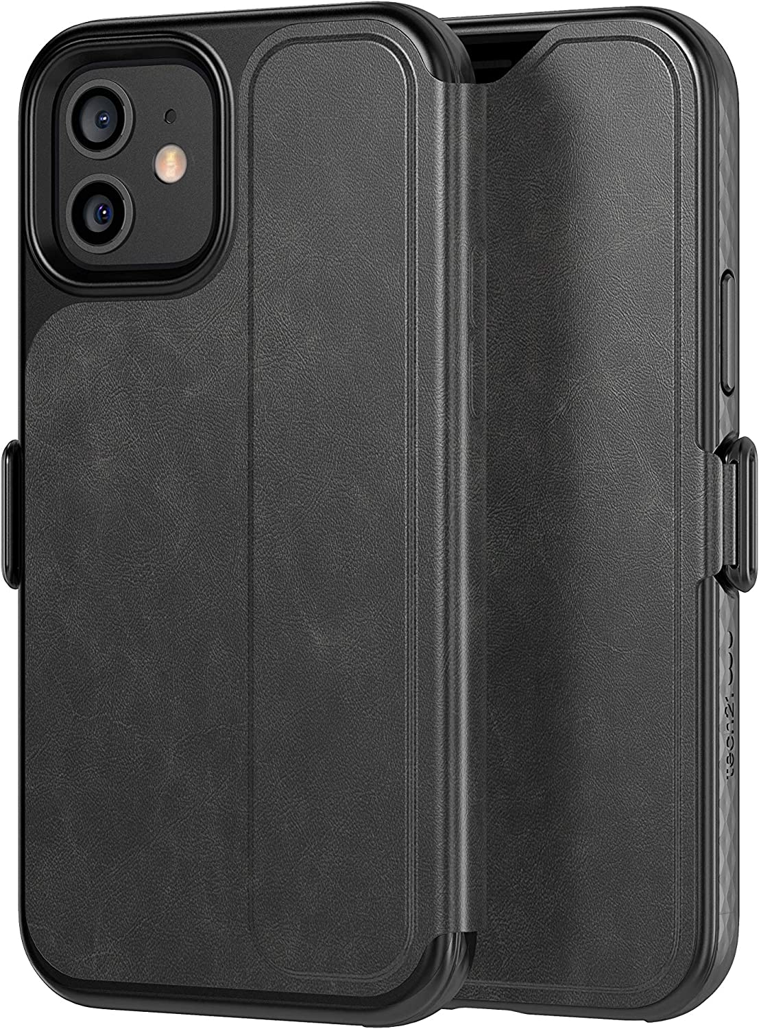 tech21 EvoWallet for Apple iPhone 12 and 12 Pro 6.1 inch 5G - Germ Fighting Antimicrobial Phone Case with 12 ft. Drop Protection (T21-8381)