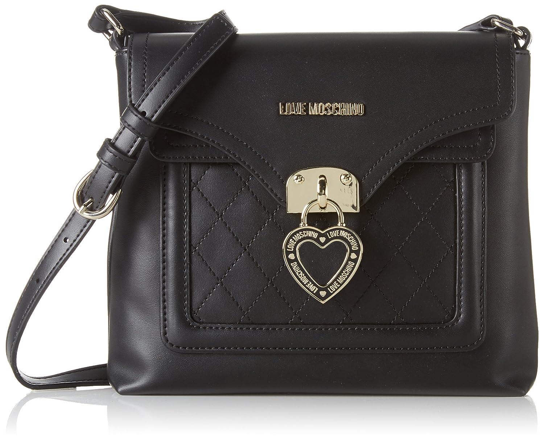 Womens JC4098 Hobos and Shoulder Bag, Black (Black), 5x20x27 cm (B x H x T) Love Moschino