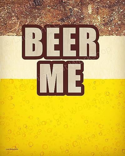 Amazon.com: Funny Bar Print, Funny Beer art, Funny Beer wall decor ...