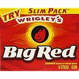 Wrigley's Chewing-gum Big Red Gum - Paquets minces (Lot de 10)