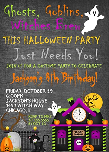 Amazon kids halloween birthday party invitations halloween kids halloween birthday party invitations halloween birthday costume party invitation with envelopes filmwisefo