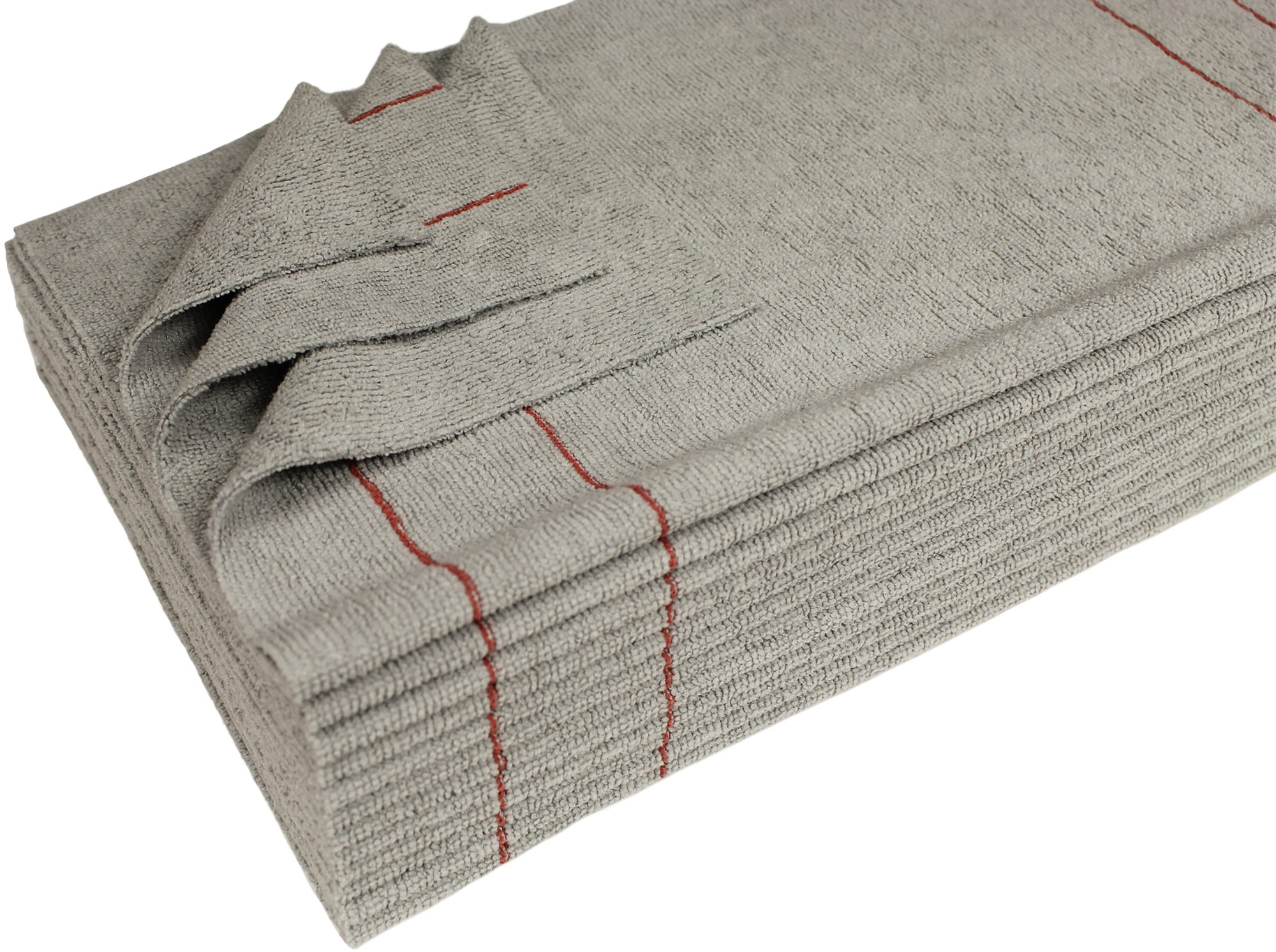 CleanAide Antimicrobial Silver Towels Ultra Cut 16 X 16 in. Red Pin 12 Pk by CleanAide (Image #6)