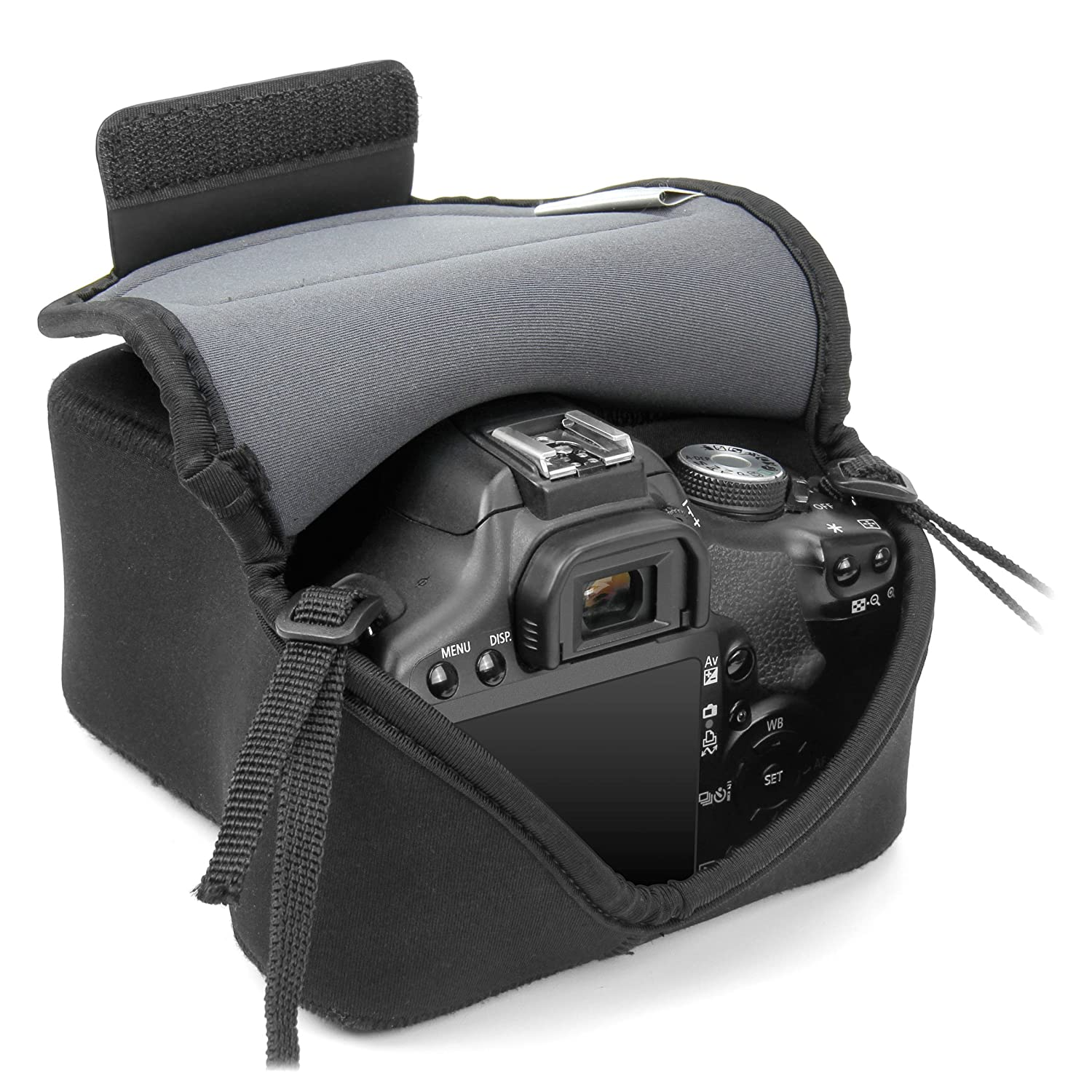 Camera Canon Dslr Camera Usa amazon com usa gear duraneoprene dslr flexarmor sleeve case works with nikon d3400 canon eos rebel t6 pentax k 70 and many other