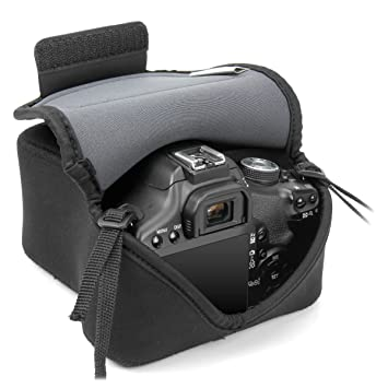 Amazon.com: DSLR Camera Case / Camera Sleeve (Black) with Neoprene ...