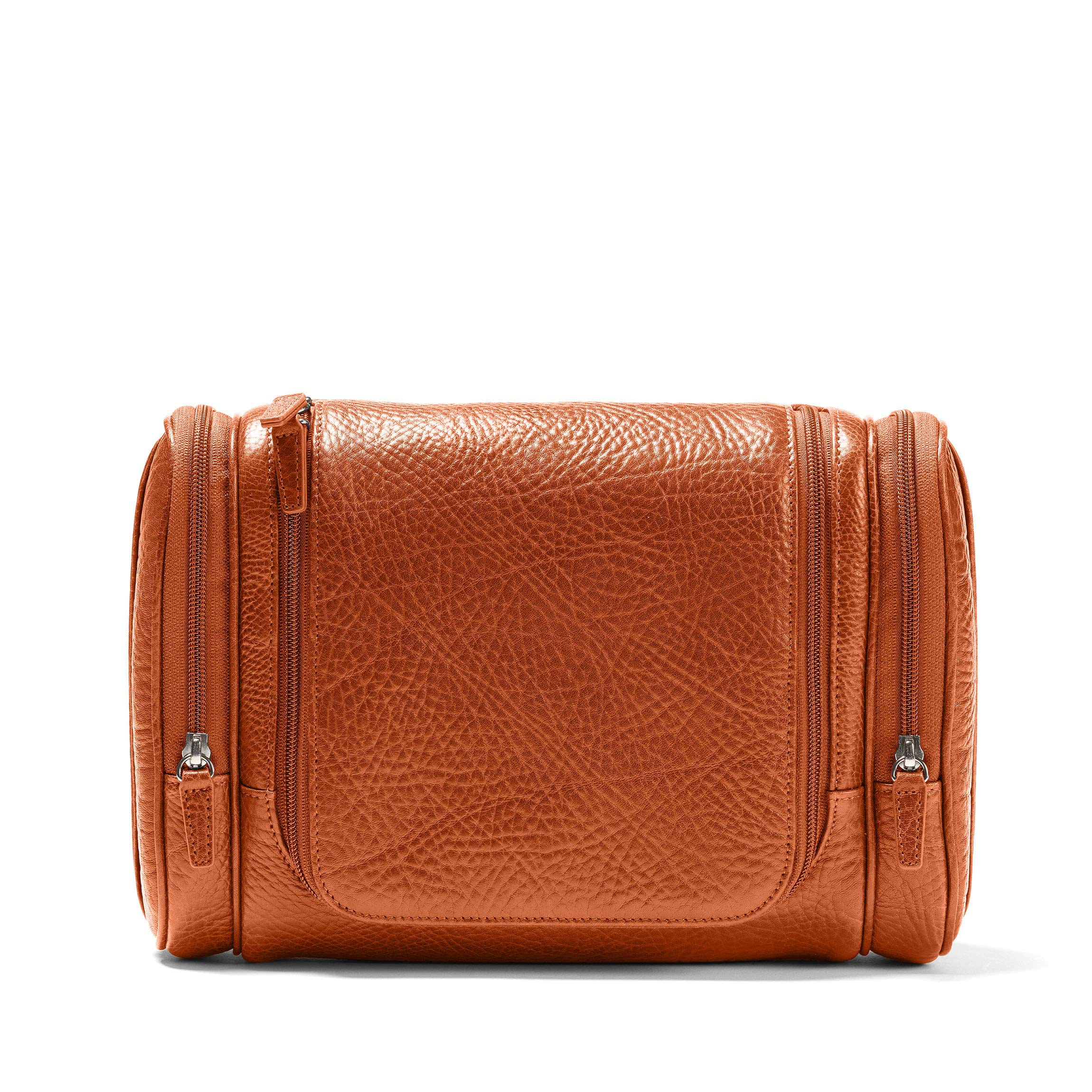 Leatherology Multi Pocket Hanging Toiletry - Italian Leather - Whiskey (brown)