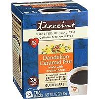 Teeccino Dandelion Caramel Nut Flavoured Herbal Coffee, 10 Count