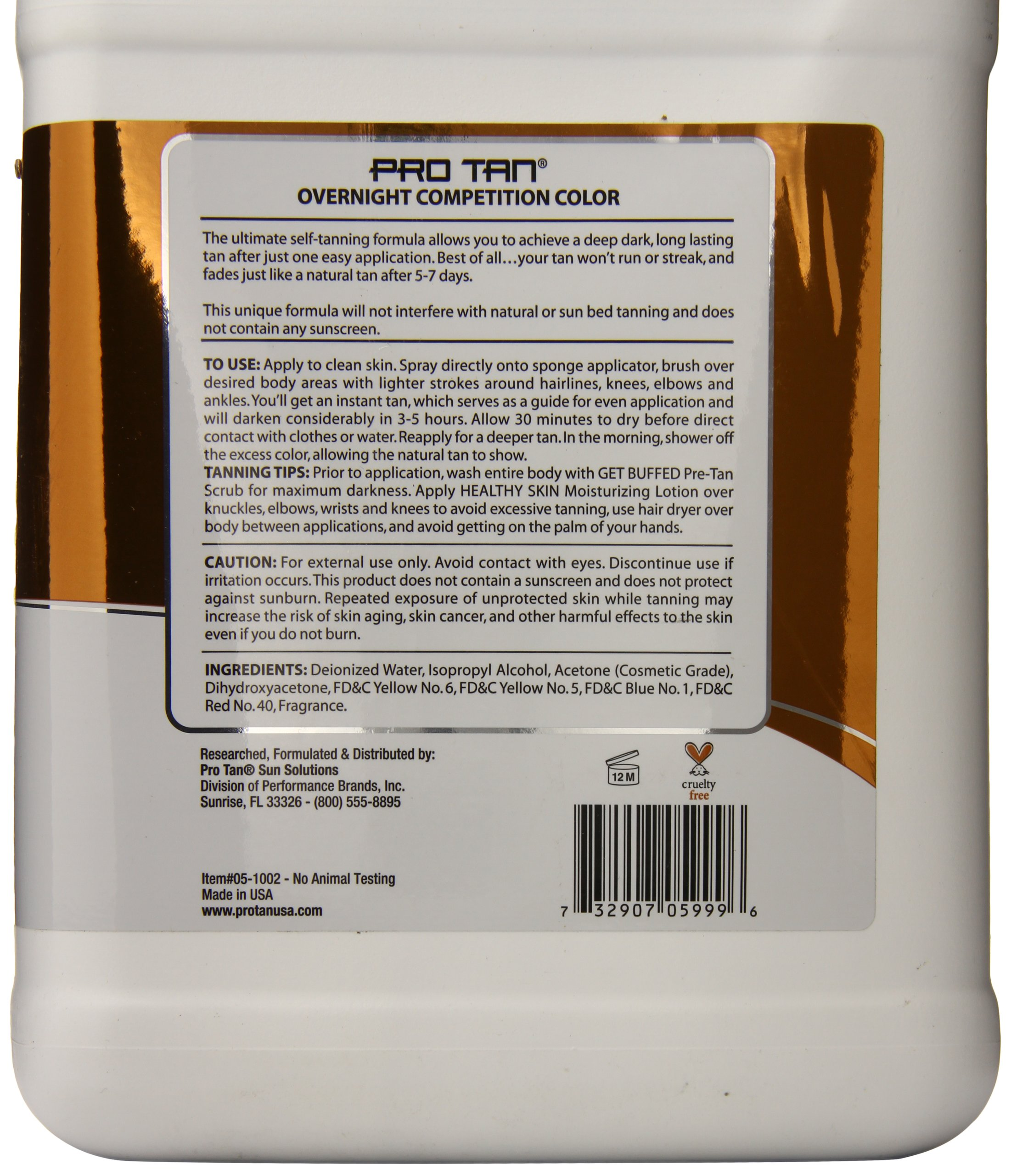 Pro Tan Competition Highlighting Color, Professional Gallon Size, 128 Ounce
