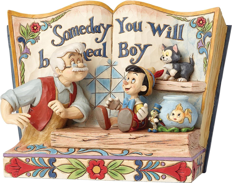 Enesco- Disney Traditions Figurita Un Día Tu Serás Un Niño De Verdad, Multicolor, 13x13x15 cm (4057957)