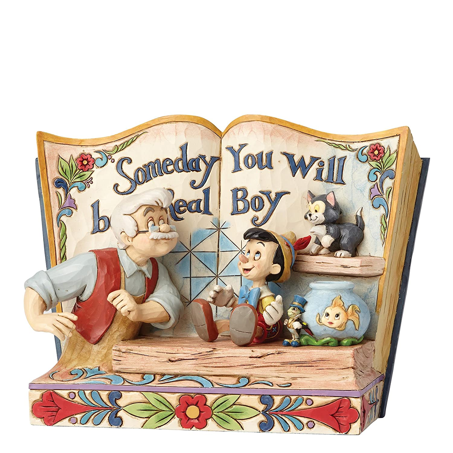 Disney Traditions 4057957 Statue Someday You Will Be A Real Boy-Storybook Pinocchio Figurine, Multi-Colour, 22 x 10 x 15 cm Enesco SS-EE-EN4057957
