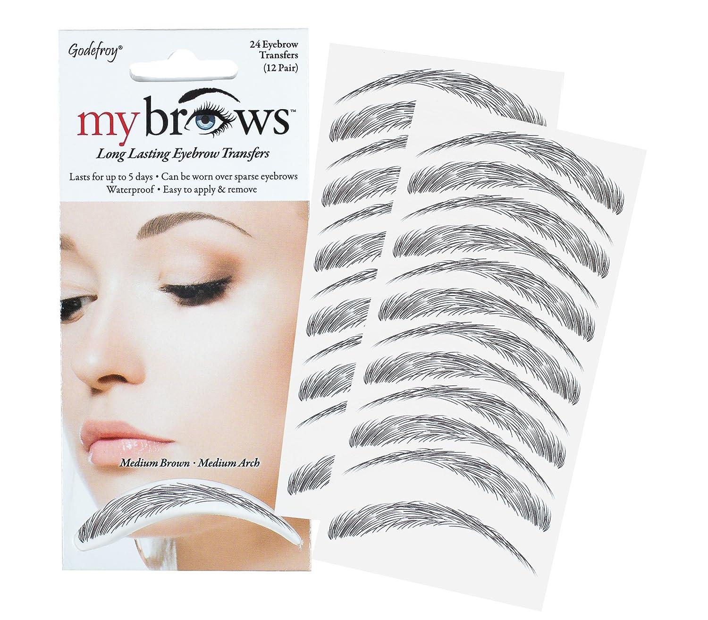Amazon Mybrows Long Lasting Eyebrow Tattoo Transfers Medium