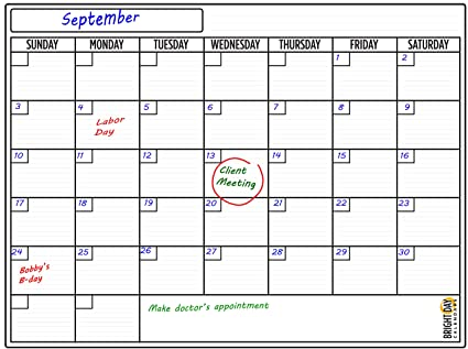Amazon Com Extra Large Dry Erase Calendar For Home Or Office