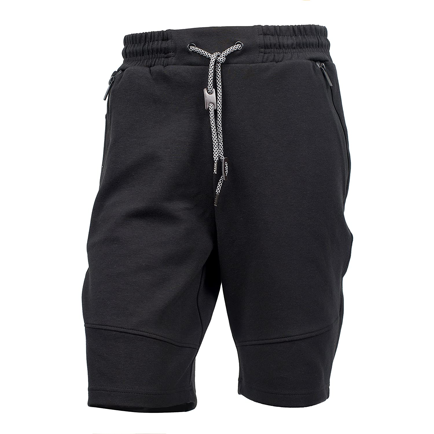 Yes Way Men' Classic Perfect Soft Cargo Short Pants-Black/Grey/Red(S up to 2XL)