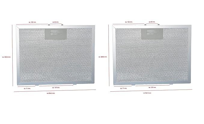 1 x mf02 PKM cappa aspirante Filtro grassi Metallo Grasso Filtro 32 CM x 27 cm.