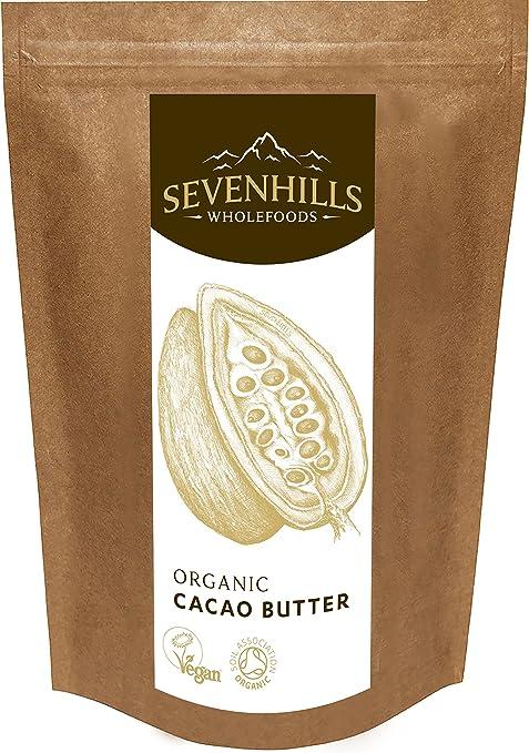 18 opinioni per Sevenhills Wholefoods Burro Di Cacao Bio, Wafers 500g