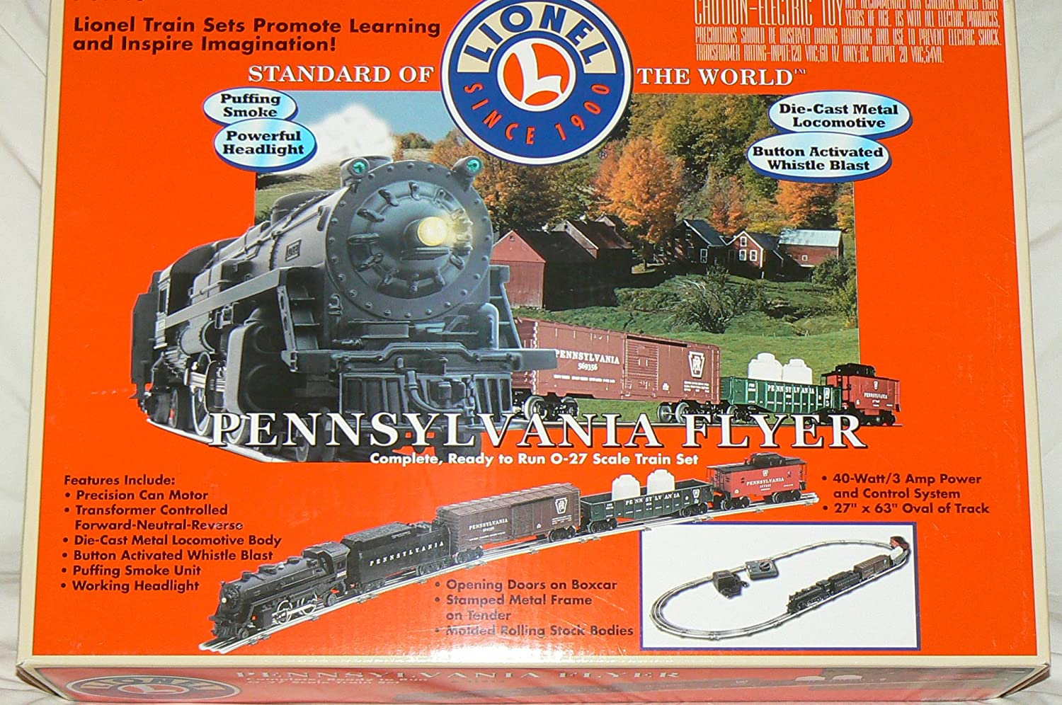Center Off Switch Wired To Control Lionel Remote Track Pennsylvania Flyer Complete Ready Run O 27 Scale Train Set Toys Games
