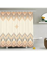 Geometric Decor Shower Curtain By Ambesonne, Vintage Primitive Aztec Native  American Motif With Folk Art